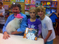 Taite and Anna with KUSHKA at Lionville Elementary Book Fair